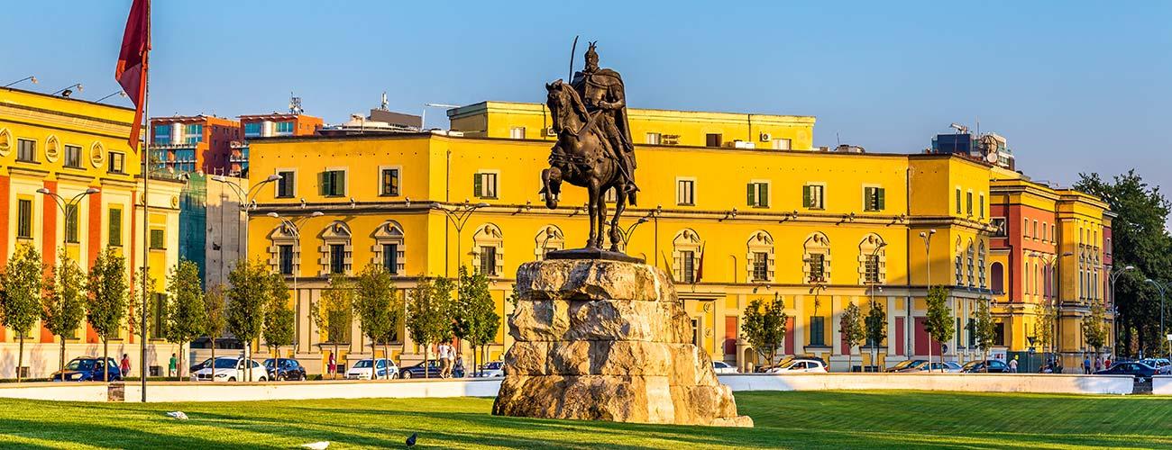 La ville de Tirana