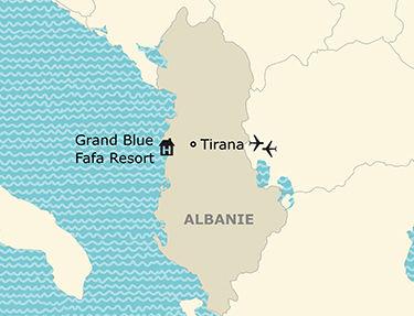 Situation de l'hôtel Grand Blue Fafa Resort 5*