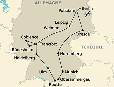 L'itinéraire du circuit Grand tour d'Allemagne