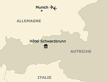 La situation de l'hôtel Schwarzbrunn 4* sup