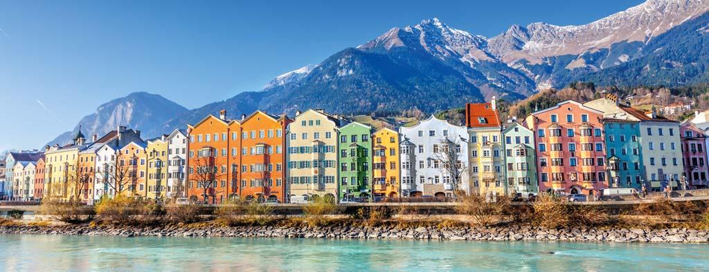 Vue de la ville d'Innsbruck, en Autriche