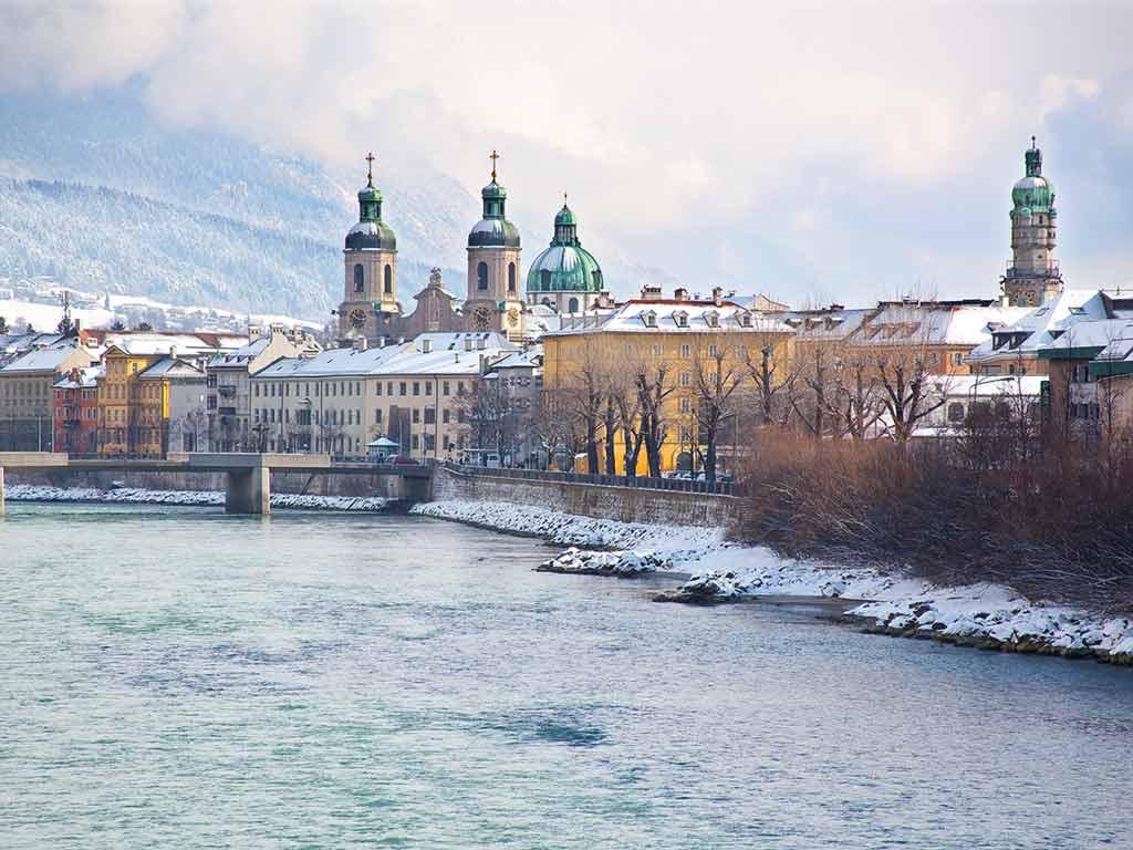 Vue de la ville d'Innsbruck, au Tyrol
