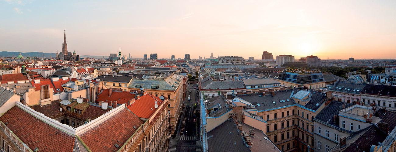 Lever de soleil à Vienne