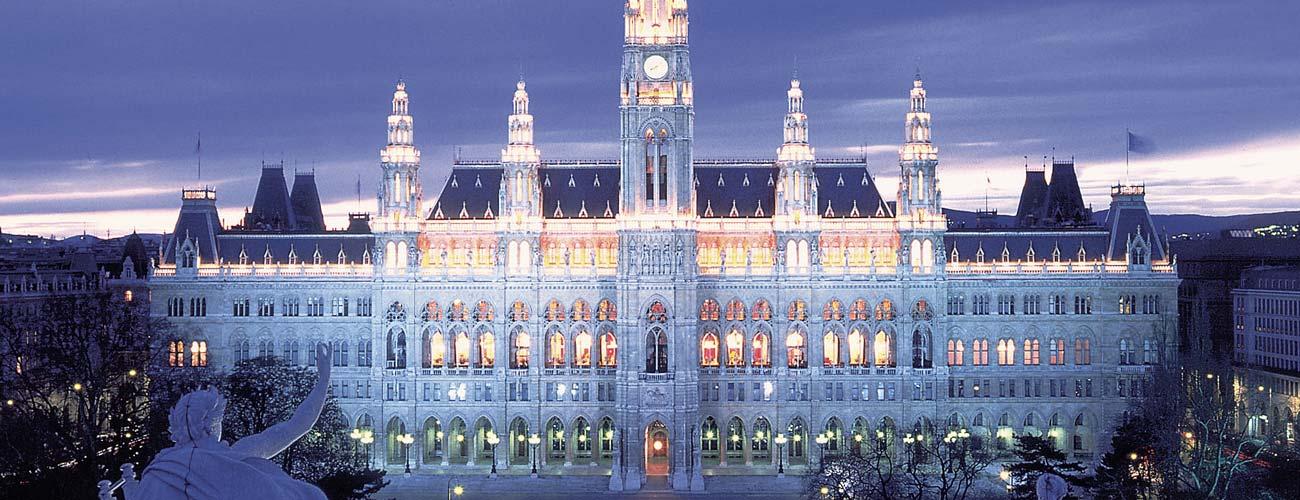 Réveillon au Rathaus, l'hôtel de ville de Vienne