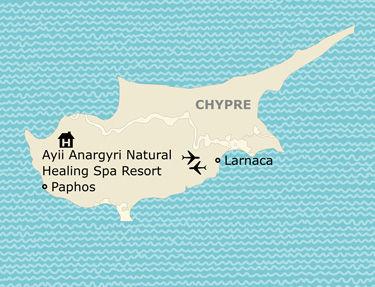 Situation de l'hôtel Ayii Anargyr Natural Healing SPA Resort
