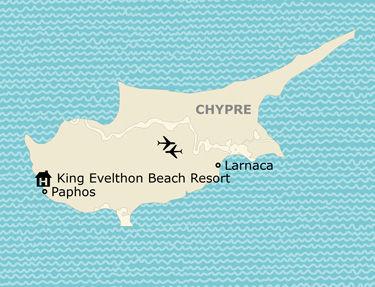 Situation de l'hôtel King Evelthon Beach Resort