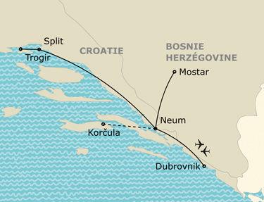 L'itinéraire du circuit Grand tour de Croatie