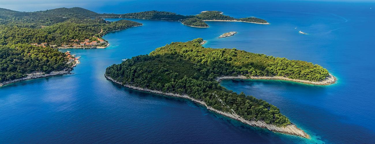 Le cadre naturel de l'île de Mljet