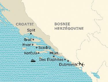 L'itinéraire de la croisière