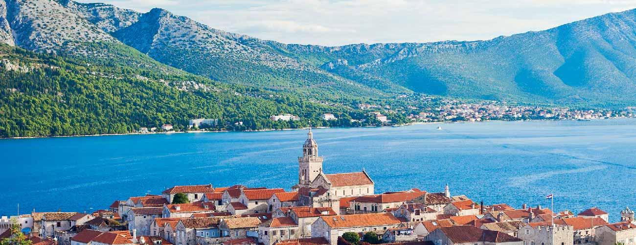 Vue de Korcula, en Croatie