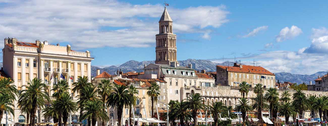 Vue de Split, en Croatie