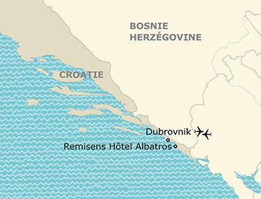 Situation de l'hôtel Albatros