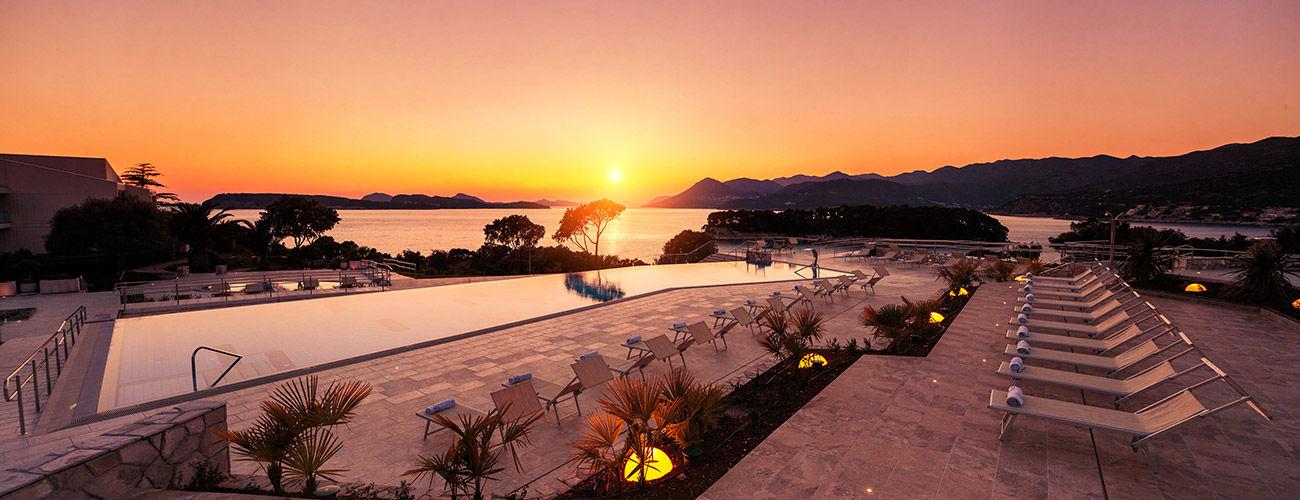 Coucher de soleil sur l'hôtel Valamar Argosy