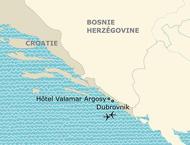 Situation de l'hôtel Valamar Argosy