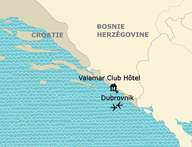 Situation de l'hôtel Valamar Club
