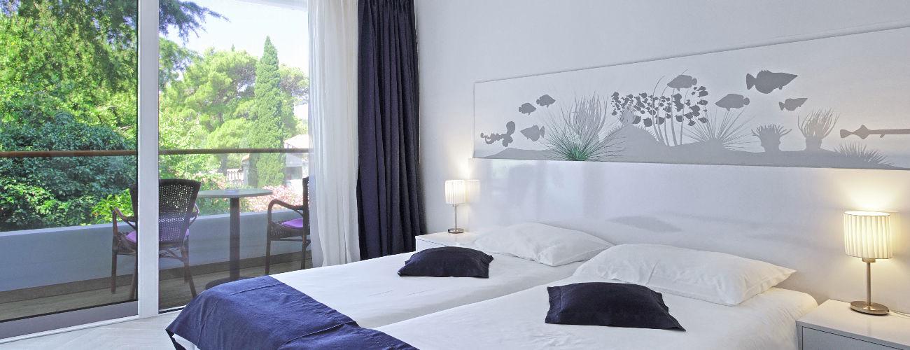 Chambre de l'hôtel Cavtat 3*