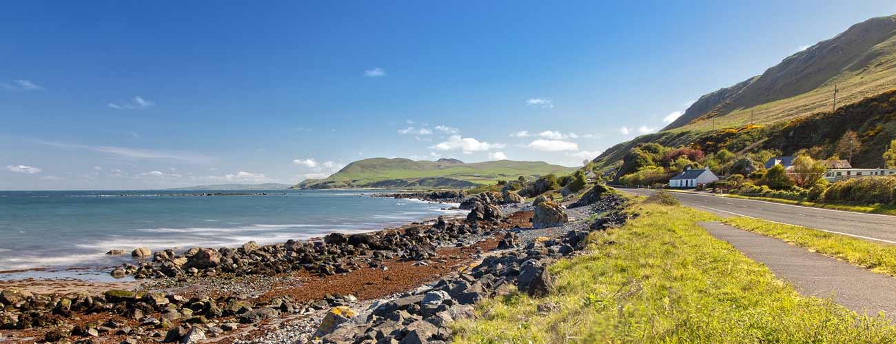 Paysage de la région de Dumfries, en Écosse