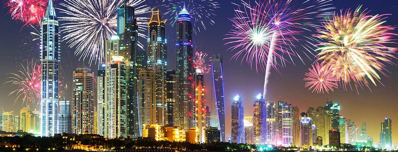 Feux d'artifice à Dubaï