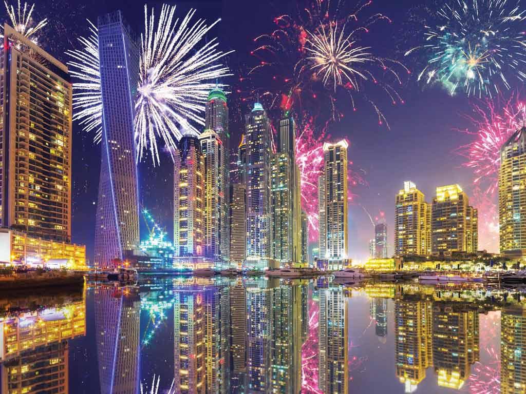 Feux d'artifices à Dubaï