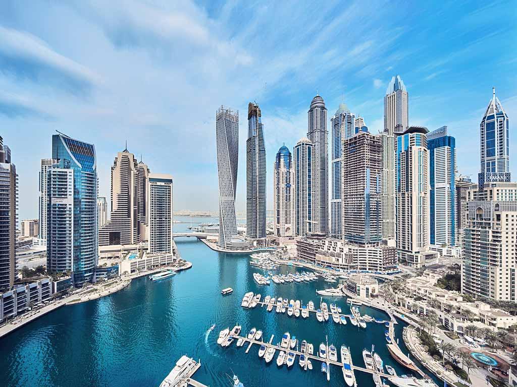 Vue de Dubaï, aux Émirats arabes unis