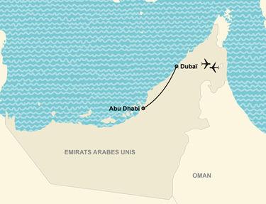 Itinéraire de votre voyage à Dubaï