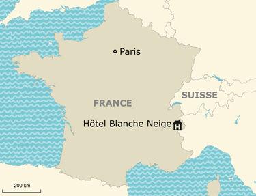 Situation Hôtel Blanche-Neige 3*