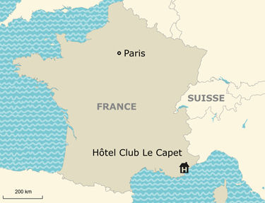 Situation Hôtel-Club Le Capet 3*