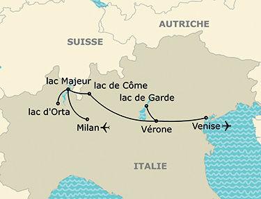 L'itinéraire de votre autotour en Italie