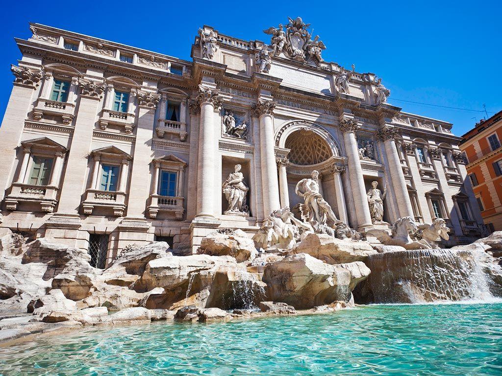 La fontaine de Trévi à Rome