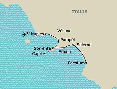 L'itinéraire de votre circuit en Italie