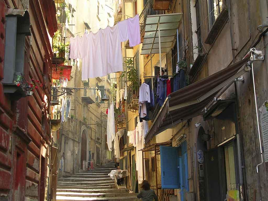 Les ruelles de Naples