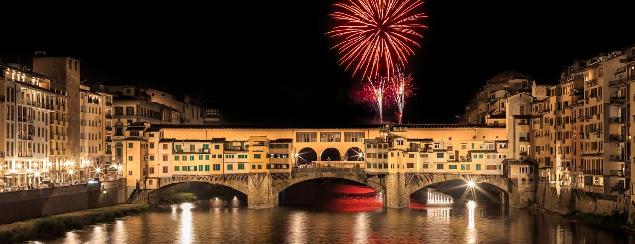 Feux d'artifice à Florence