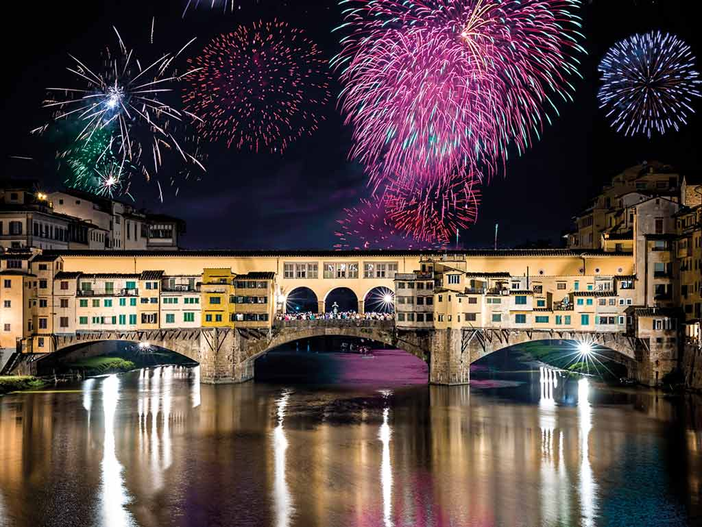 Feux d'artifices à Florence