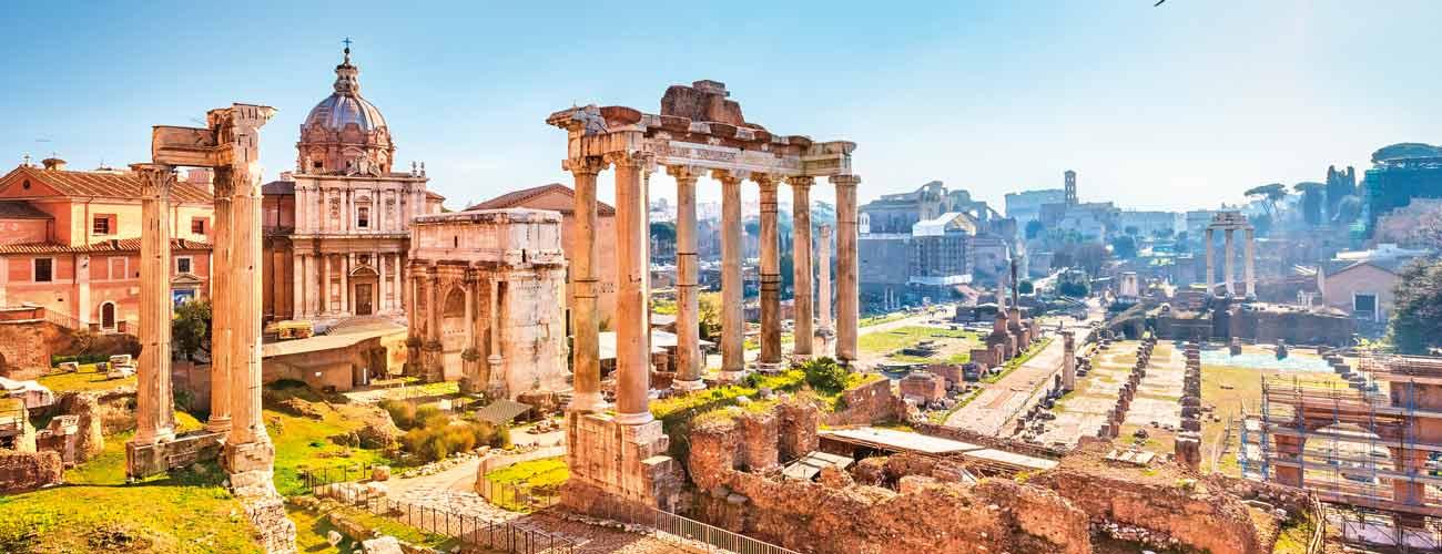 Vue du Palatin, à Rome en Italie