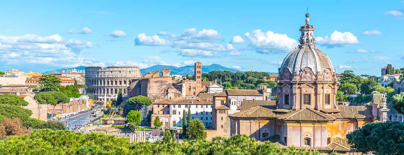 Vue de la ville de Rome, en Italie