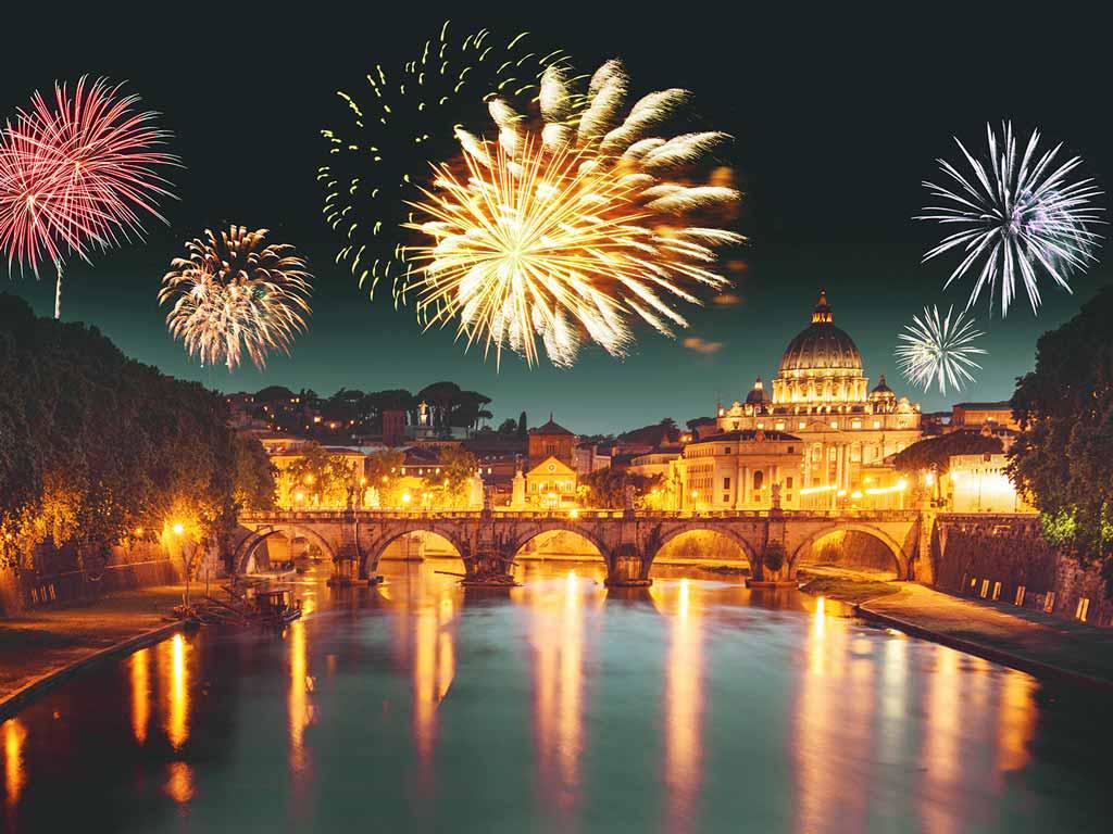 Feux d'artifice à Rome