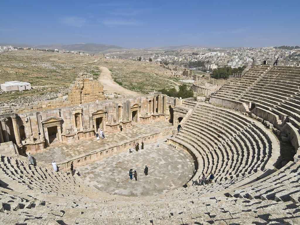 Théâtre du sud, à Jerash en Jordanie