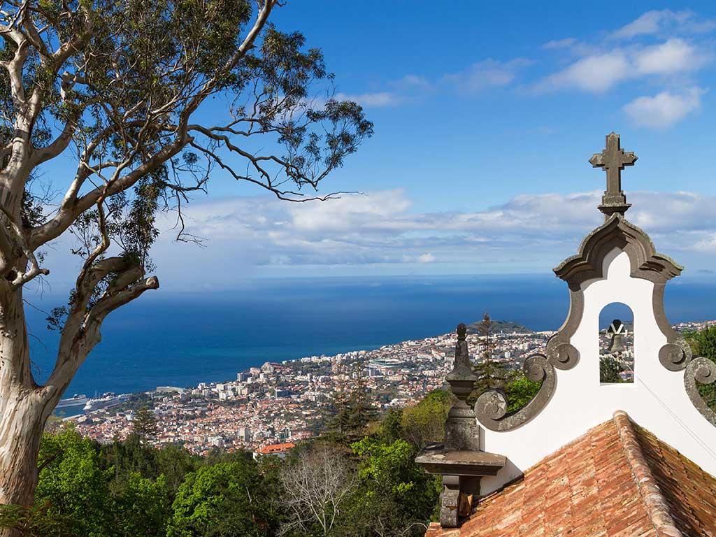 La vue aérienne de Funchal