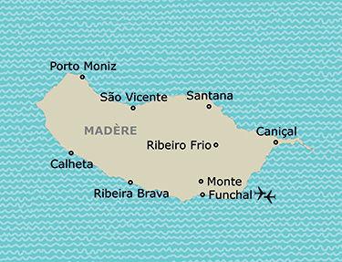 L'itinéraire du circuit Madère, terre d'aventures