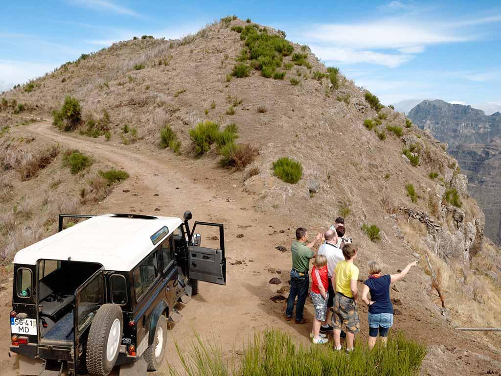 En option, excursion en jeep