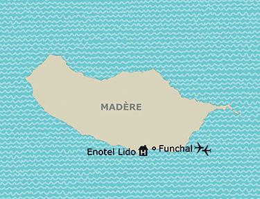 Situation de l'hôtel Enotel Lido
