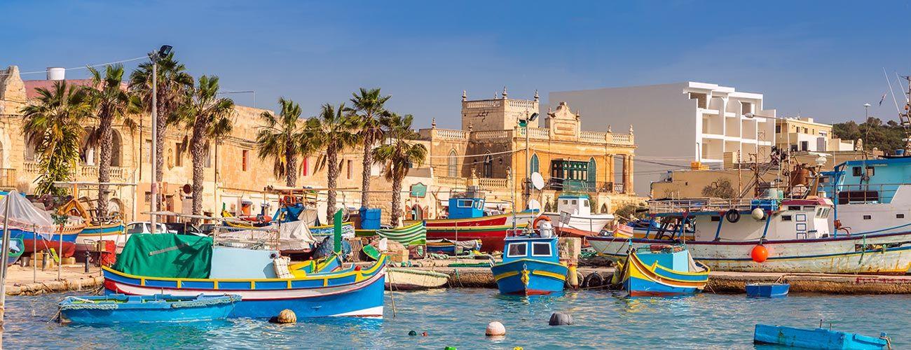 Le petit port de pêche de Marsaxlokk