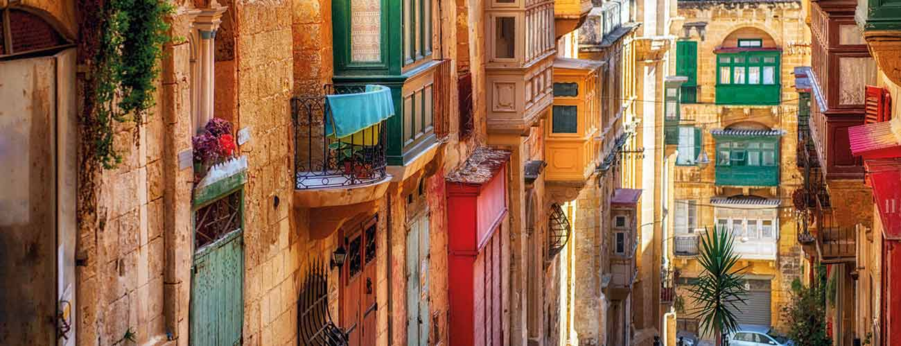Vue de La Valette, à Malte
