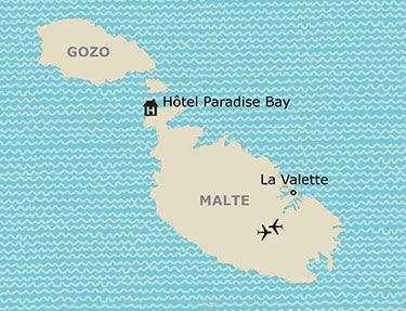 Situation de l'hôtel Paradise Bay Resort