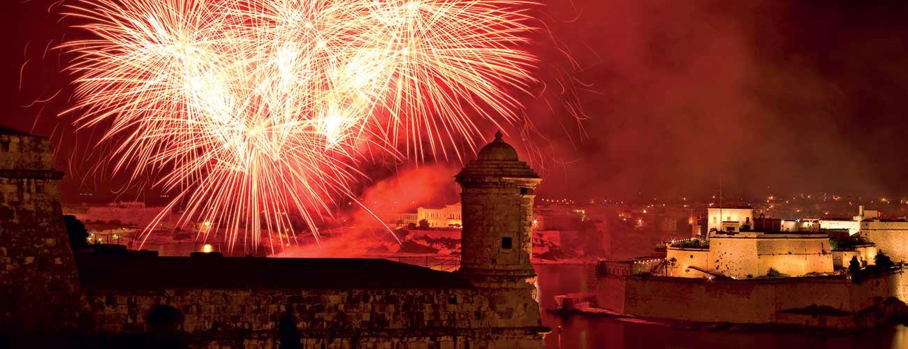 Feux d'artifice à Malte