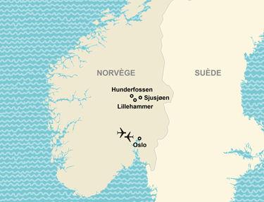 L'itinéraire de votre circuit en Norvège