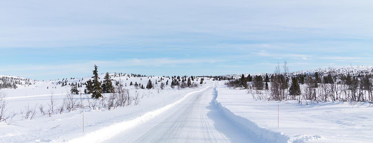 Paysage enneigé en Norvège