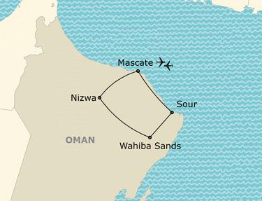 L'itinéraire de votre circuit à Oman