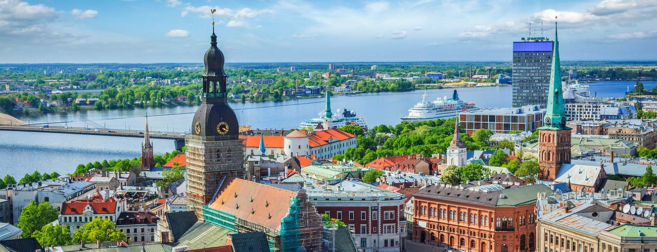 Vue des toits de Riga