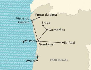 Itinéraire de votre circuit  au Portugal